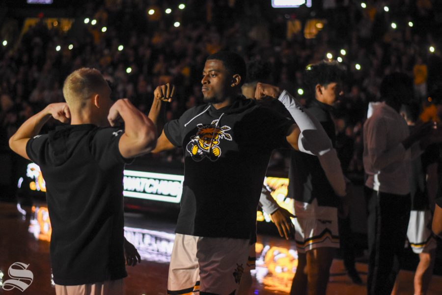 Junior Trey Wade enters Charles Koch Arena before the game against East Carolina on Wednesday, Jan. 1.