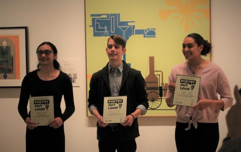 Poetry Out Loud competition at the Ulrich Museum of Art