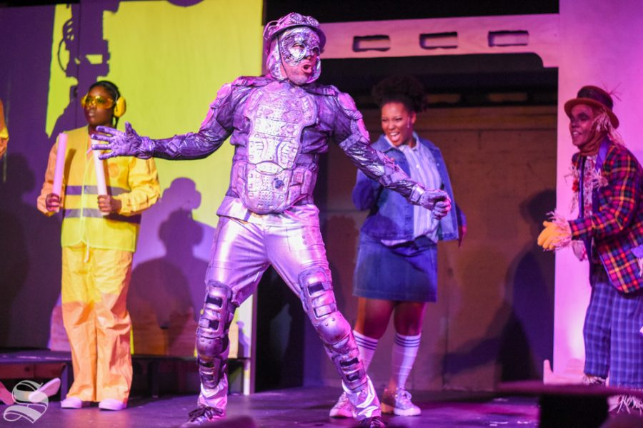 The Tinman, played by Huron Breaux, sings
