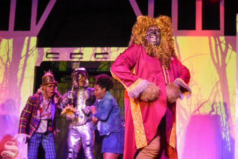 "The Lion, played by Alexander Ogborn, sings ""Mean Ole Lion"" during a dress rehersal of ""The Wiz"" on Tuesday inside Roxy"