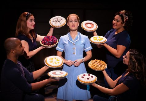 "Bailey McCall as Jenna, and Company in the National Tour of ""Waitress""."