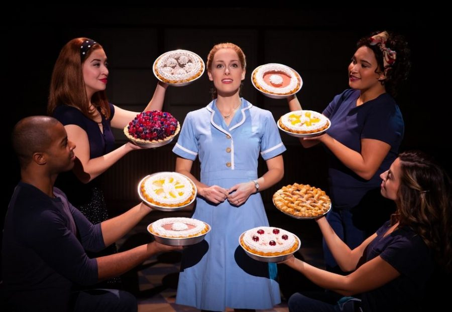 Bailey+McCall+as+Jenna%2C+and+Company+in+the+National+Tour+of+%22Waitress%22.