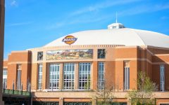 The exterior of the Dickies Arena in Forth Worth, Texas.
