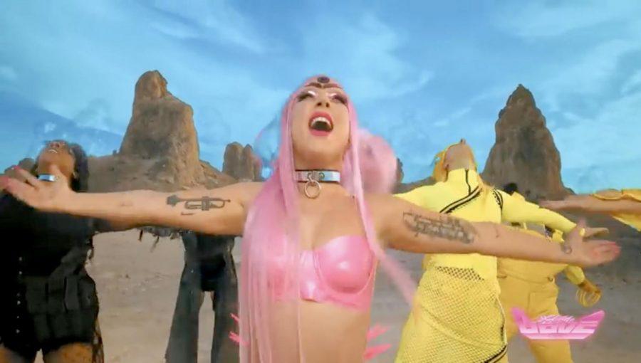 Screenshot from Lady Gaga's