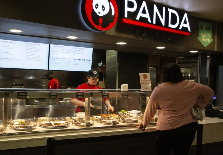 Panda Express open during lunch on Monday, March 23, 2020.