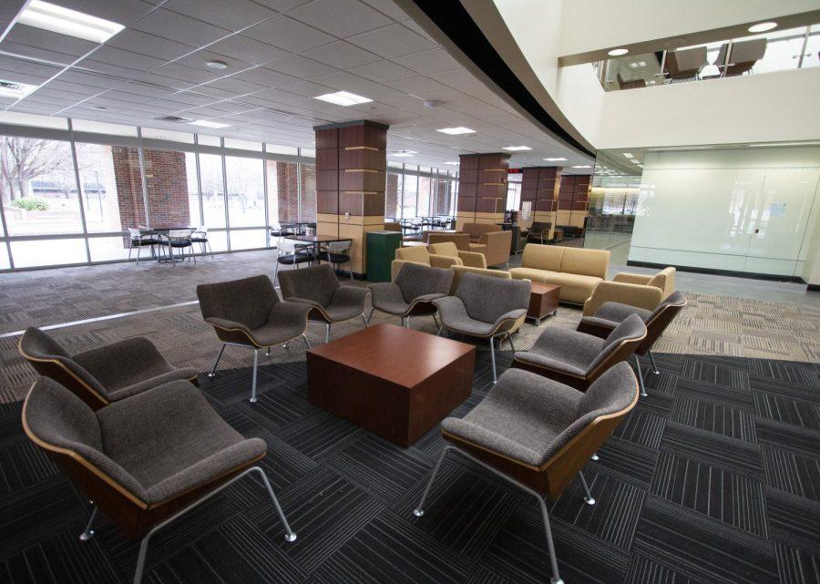 Rhatigan Student Center on Monday, March 23, 2020.