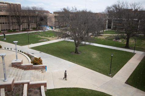 Wichita State campus on Monday, March 23, 2020.