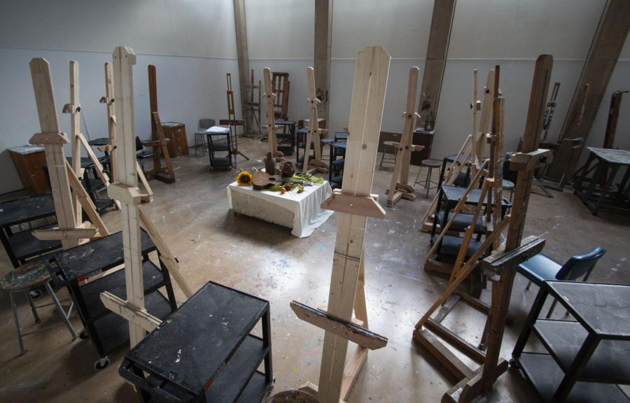 Studio art classroom inside McKnight Art Center on Monday, March 23, 2020.