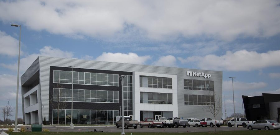 NetApp building on Innovation Campus on Monday, March 23, 2020.