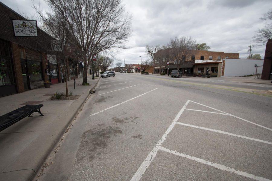 Douglas street in the Delano District on Saturday, March 28, 2020.