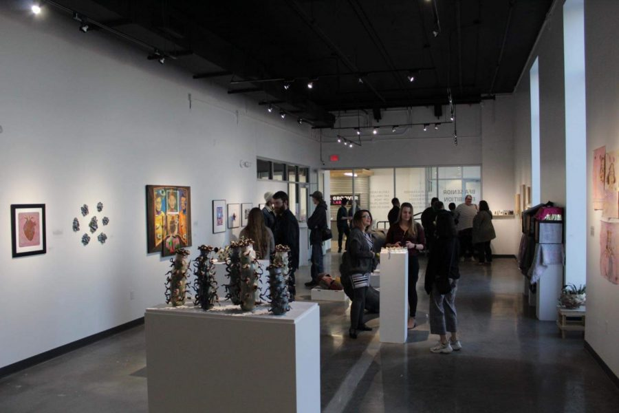 ShiftSpace hosted BFA Senior Exhibitions on March 6.