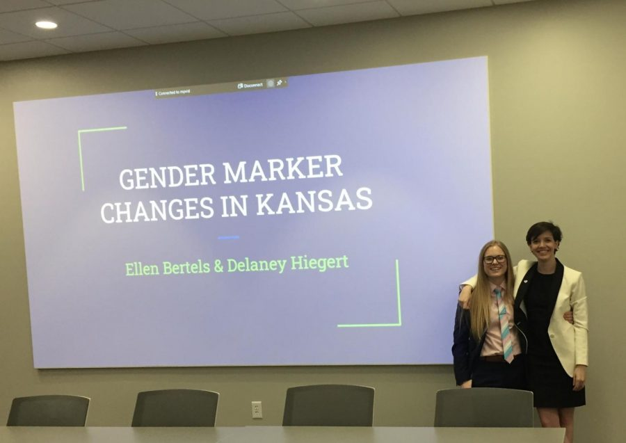 Delaney+Hiegert+%28left%29+and+Ellen+Bertels+%28right%29+present+to+legal+professionals+in+Wichita+in+March.+They%27ll+bring+their+presentation+to+Wichita+State+community+members+via+webinar+April+7.