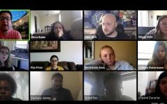 Screenshot from Thursday's emergency meeting