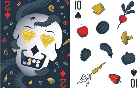 Diversity and inclusion chair for AIGA Wichita, Gabby Garlow, designed the two of diamonds and WSU senior Sofia Burnett designed the 10 of spades.