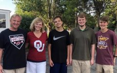 Sunflower sports reporter Matthew Goldsmith (second from right) poses with his family.