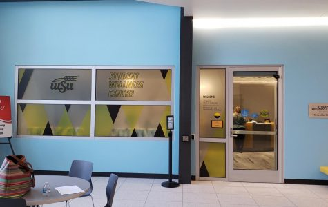 The outside of the Student Wellness Center, located in the same building as the Steve Clark YMCA. WSU health officials discussed ongoing changes to the Student Wellness Center's operations amid the coronavirus pandemic.