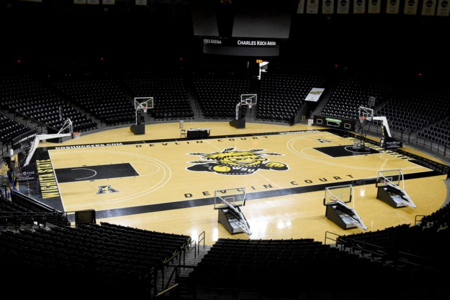 Koch Arena sits empty on Friday. Much uncertantity still surrounds sports this year, including whether or not fans will be able to attend.