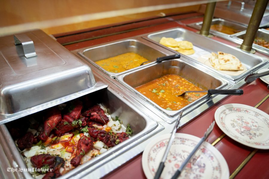 The+lunch+buffet+at+Passage+to+India%2C+6100+E+21st+St+N+%23180.+Columnist+Kamilah+Gumbs+recommends+the+restaurant+as+one+of+her+favorite+food+spots+near+Wichita+State.%0A