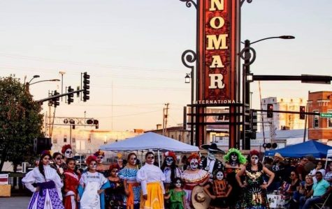 """A Day of the Dead celebration at Nomar square in Wichita, Kansas. """"Somos de Wichita"""" is an exhibit dedicated to highlighting the history of Wichita's Latinx community."""