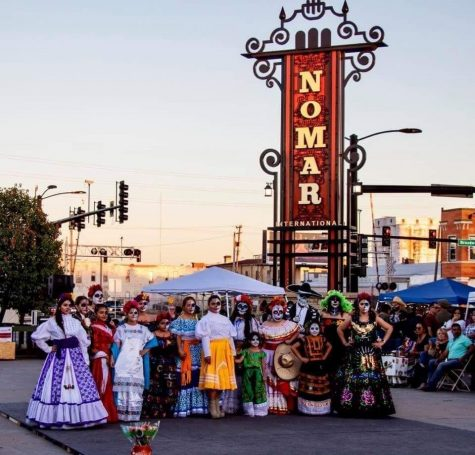 "A Day of the Dead celebration at Nomar square in Wichita, Kansas. ""Somos de Wichita"" is an exhibit dedicated to highlighting the history of Wichita's Latinx community."