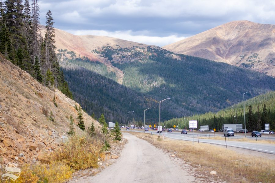 The road leading to the 1970 Wichita State plane crash site is located off of I-70 near Silver Plume, Colorado.