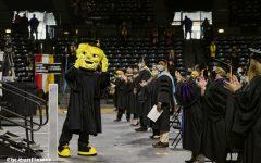 WuShock made an appearance at the ceremony. The Spring 2020 Commencement was held on Oct. 10, 2020 after the initial event was cancelled due to COVID-19.