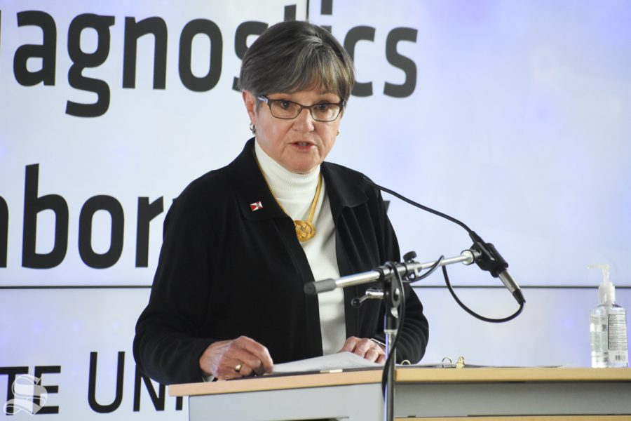 PHOTOS: Governor Laura Kelly visits WSU's campus for Molecular Diagnostics Lab opening