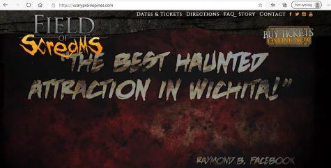Screen shot of the Fields of Screams website, scaryprairiepines.com.