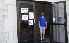 Gabe Murphy walks out after casting his vote at Grace Presbyterian Church Tuesday, Nov. 3. He turned 18 on Election Day and celebrating by going to the polls.