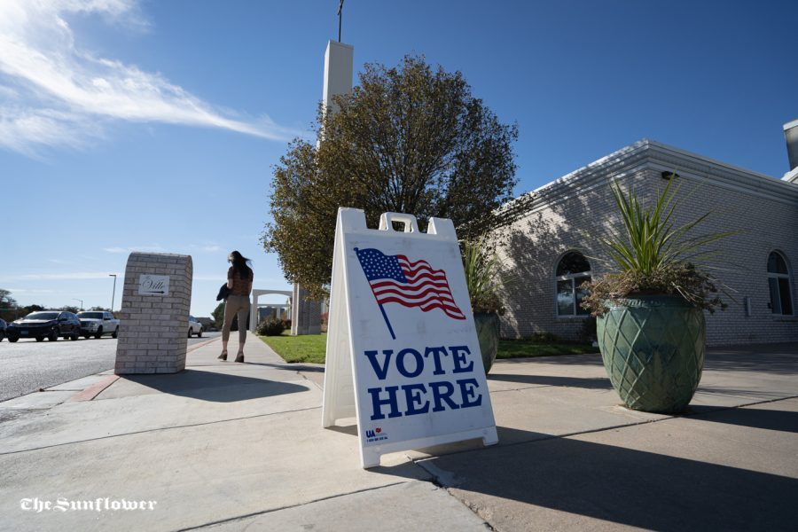 St Vincent de Paul Church in Andover is among many polling places across the Wichita area.