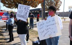 Wichita citizens were protesting TitleMax and other loan businesses to from entering their community and preying on low income communities on Nov. 7.