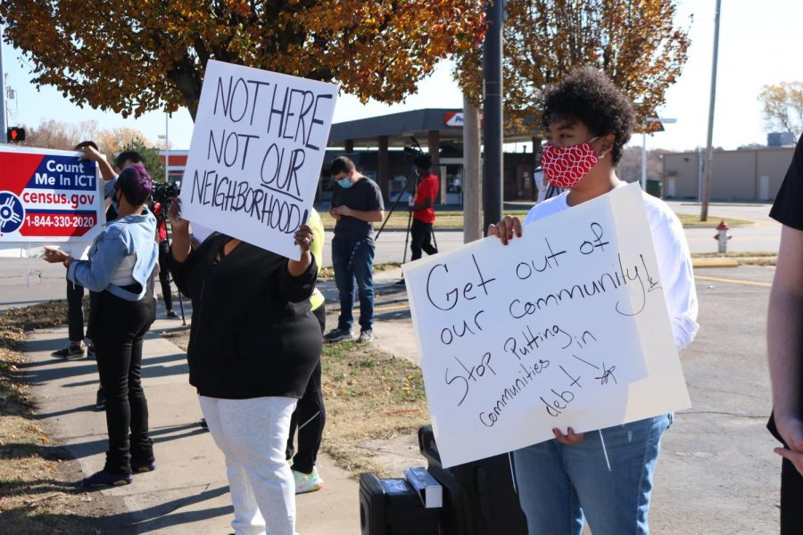 Wichita citizen's were protesting TitleMax and other loan businesses to from entering their community and preying on low income communities on Nov. 7.