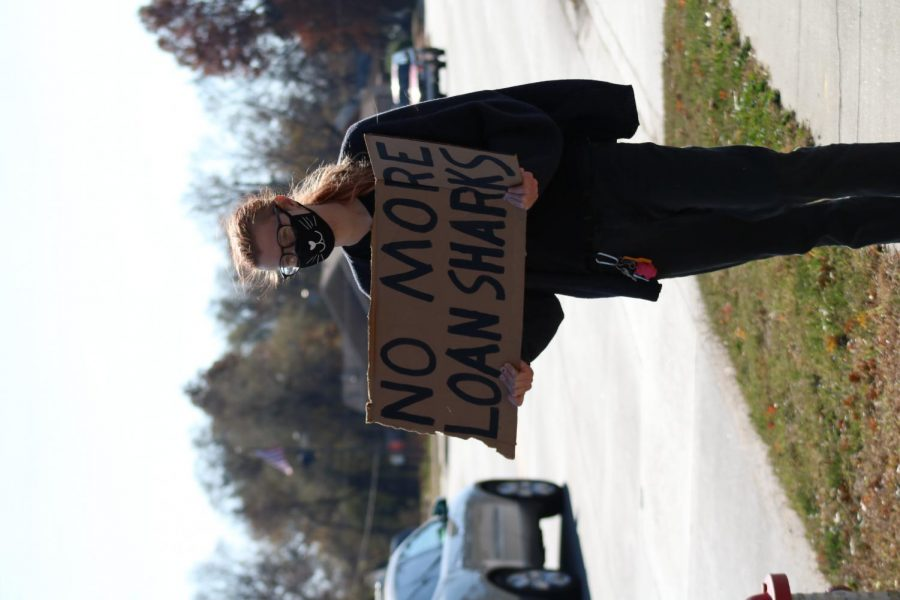 Wichita citizen's were protesting TitleMax and other loan businesses from entering their community and preying on low income communities on Nov. 7.