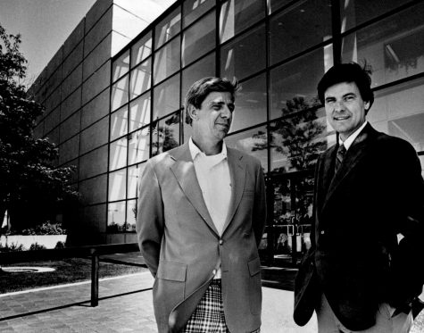 Brothers Dan, left, and Frank Carney. Dan and Frank opened the doors of the first Pizza Hut in 1958. (The Wichita Eagle)