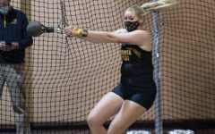 Wichita State Jocelen Ruth competes in weight throw during the invitational for track and field at Wichita State on Jan. 29.