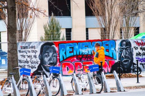 """A new mural goes up in downtown Wichita to celebrate Martin Luther King Jr Day on January 18. """"The mural is titled 'lift your voice', and I just hope everyone's encouraged to use your voice to stand up for what's right,"""" said Priscilla Brown, Wichita artist. The mural is located right next to the Pop Up Park in downtown Wichita."""