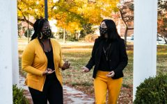 Kamilah Gumbs (left) and Rija Khan (right) announced their student government campaign Monday.