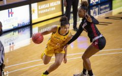 Wichita State junior Seraphine Bastin drives to the basket during the game against Temple on Feb. 5 at Koch Area.