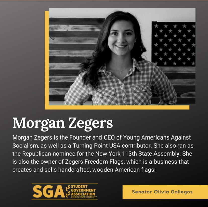 A Student Senator has faced backlash over decision to highlight public figure Morgan Zegers in an SGA womens history month social media post.
