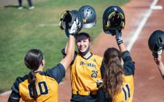 Wichita State sophomore Sydney McKinney celebrates after hitting a home-run  during the game against ECU at Wilkins Stadium on Mar. 28, 2021.