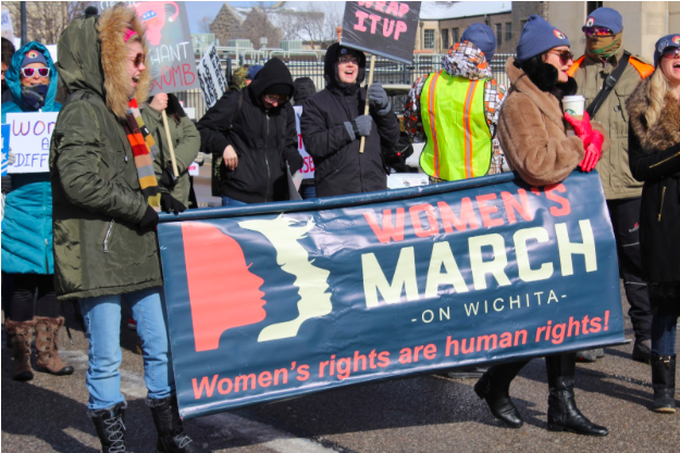 Women's March - Air Capital was founded in 2017 by Brandi Calvert. That year hundreds of marches took place across the nation.  It was prompted by the fact that several of Trumps statements were considered to be offensive to women.