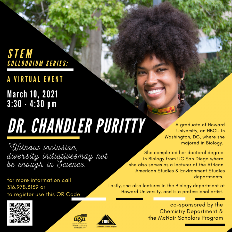 Dr.+Chandler+Puritty+hosted+a+virtual+chat+on+March+10%2C+that+was+about+diversity+and+inclusion+in+the+science+field.