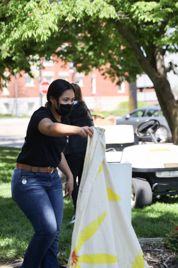 Wichita State Student senior Journi Brown majoring in anthropology at Family Fun Day at the Ulrich Museum on April 24, 2021