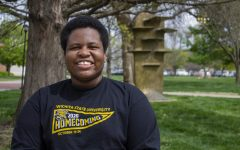 Wichita State Junior Omarian Brantley poses for a photo. This year Brantley was elected the president of the Black Student Union. He also currently works as an intern in the Office of Diversity and Inclusion, an underserved senator in Student Government and is an RA in housing.