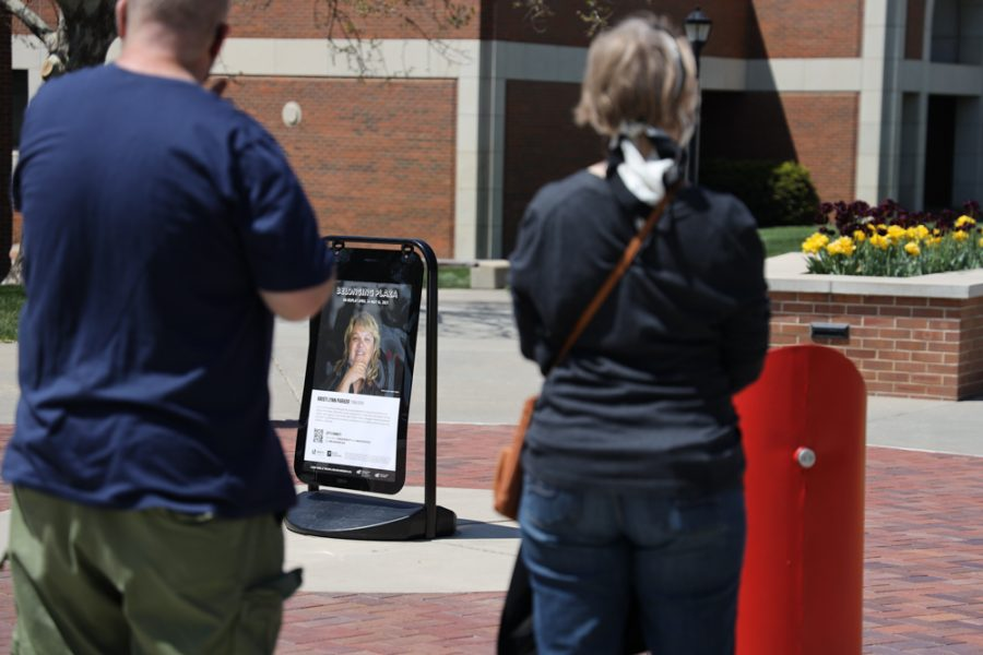 The launch of Belonging Plaza on April 24, 2021 east of Wiedemann Hall honoring Kristi Lynn Parker.