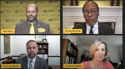 "On Wednesday March 31 Wichita State hosted a virtual panel discussion titled ""Speaking Freely on Freedoms of Expressions"" discussing the right students have through the First Amendment to share their viewpoints without retaliation from the university."