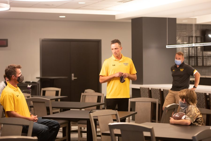 Wichita State redshirt senior Marius Frosa is giving a speech on May 3, 2021. He said you changed my life.