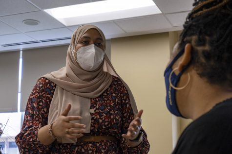 Saniya Ahmed is a senior graduating in May. After graduation, she hopes to pursue her master