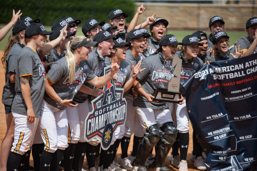 Shockers win first-ever AAC tournament tittle after beating UCF 7-4 in the championship game on May 15.