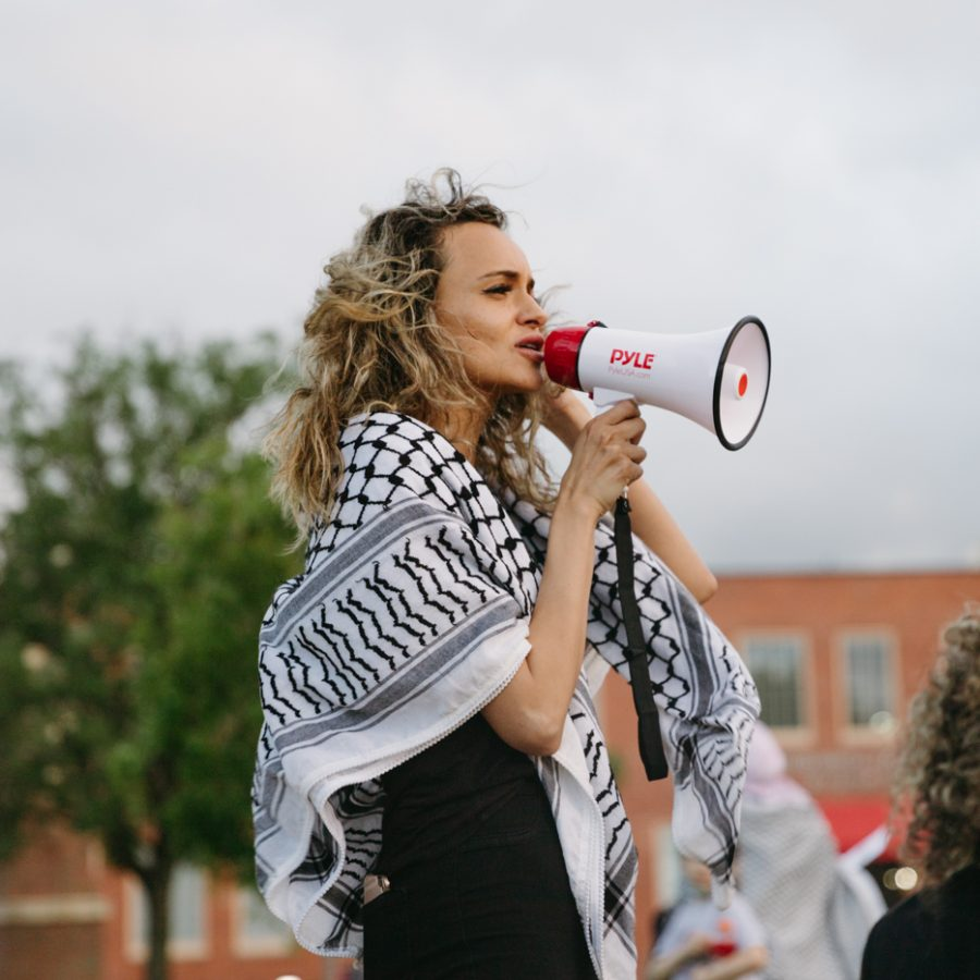 PHOTOS: The Wichita community gathers for the 2nd protest for Palestinian rights